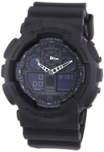 Casio Herren Armbanduhr G-Shock Analog  Digital Quarz Schwarz Resin Ga-100-1A1Er