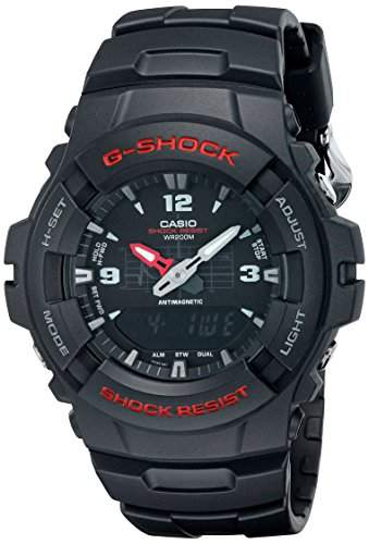 G-Shock Herren Armbanduhr Quarz Schwarz Resin G-100-1Bvmur