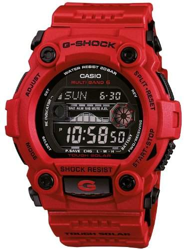 Casio G-Shock Herren-Armbanduhr Funk-Solar-Kollektion Digital Quarz GW-7900RD-4ER