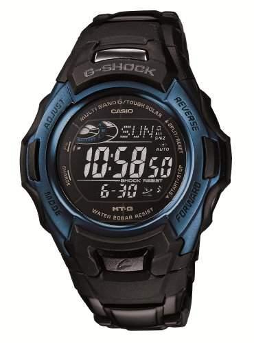 Sechs Stationen entsprechenden Wellen Solaruhr MTG-M900BD-2JF Maenner Casio Armbanduhr von CASIO G-SHOCK G-Shock Schwarz  Blau Schwarz  Blau World Series