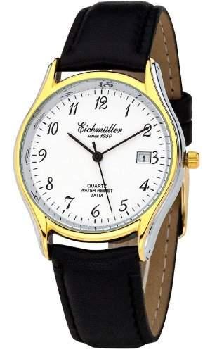 Klassische Eichmueller Uhr Leder Armbanduhr mit Datum Herrenuhr Miyota 1M12