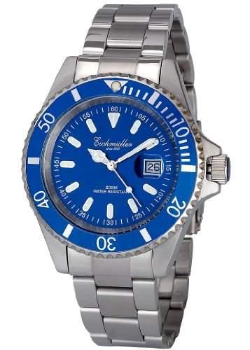 XL Eichmueller Edelstahl Taucheruhr 20ATM 200m Herrenuhr - Gewicht der Armbanduhr 138 g Gramm