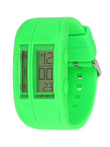 Pollmann Sommeruhr Gruen 05 Bunte Silikon Chrono Plastik Unisex Damen Herren Uhr Armbanduhr