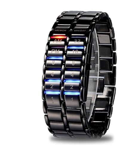 Better Dealz 2014 LAVA Bunt LED Herren Armbanduhr Dualsystem Binaer Digital IRON Uhr