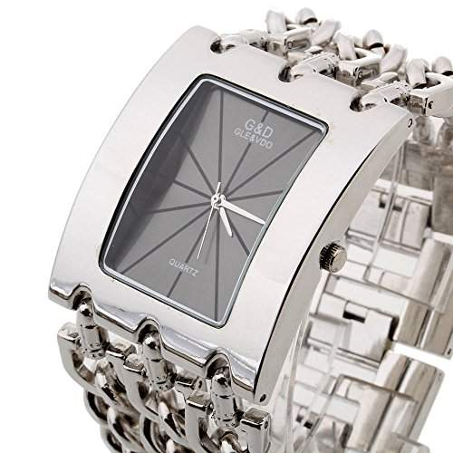 FACILLA Damen Armband Uhr Damenuhr Armbanduhr Quarzuhren Legierung Silberfarbe