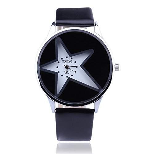 FACILLA Armbanduhren Armbanduhr Quarz Uhr Kunstleder Watch Laessig Unisex Damen Herren