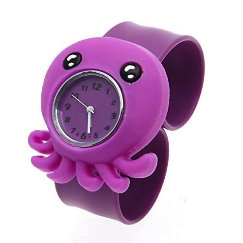 FACILLA® Kinderuhr Jungen Maedchen Uhr Armbanduhr Quarzuhr Silikon Violett Langlebig Trend