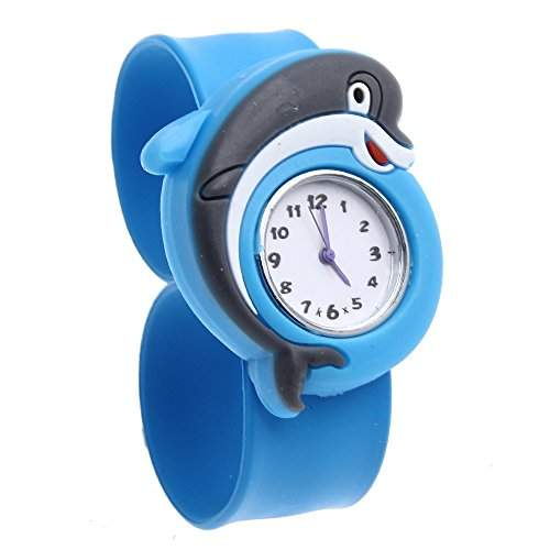 FACILLA® Kinderuhr Jungen Maedchen Uhr Armbanduhr Quarzuhr Silikon Komfort Blau Trend