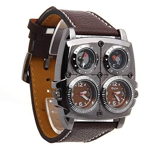 FACILLA® Cool Herrenuhr Quarzuhr Armbanduhr Armband Watch Sport mit Dual Quarzwerk Neu