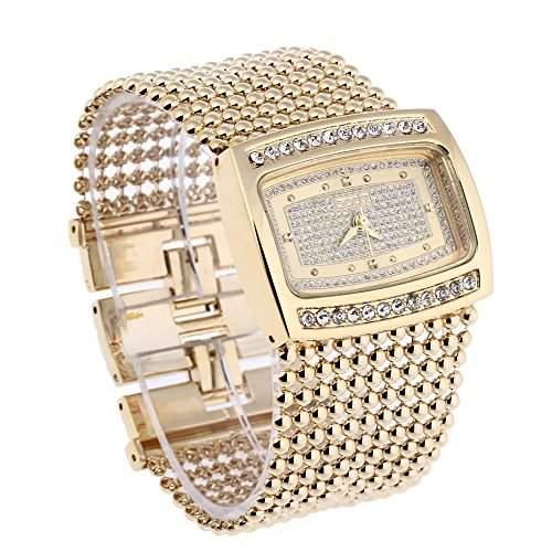 FACILLA® Damenuhren Armbanduhr Quarzuhr Uhr Watch mit Strass Gold Galvanisation Gefragt