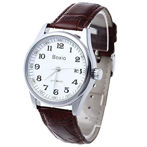 FACILLA® Herrenuhr Armbanduhren Armbanduhr Mechanisch Automatikuhr Watch Braun Modisch
