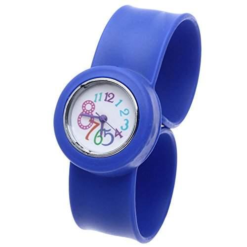 FACILLA® Kinderuhr Kinder Uhr Kinderarmbanduhr Quarzuhren Silikon Maedchen Marineblau