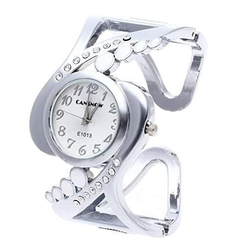 Damen Armbanduhr Armreifuhr Quarzuhr Armspange Spangenuhr Strass Geschenk