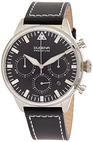 Dugena Cockpit Chronograph Sport Line Analog Quarz Leder 7000179