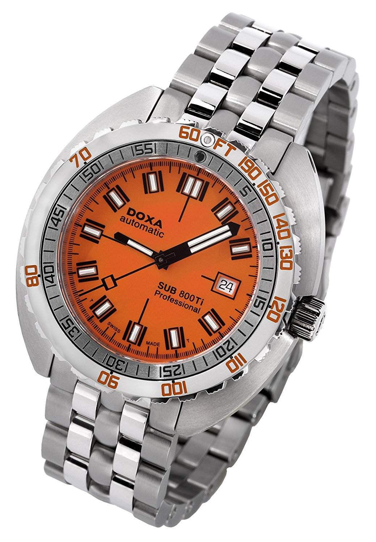 DOXA Herren-Armbanduhr DOXA SUB 800Ti Professional Analog Automatik edelstahl Silber 8015035111