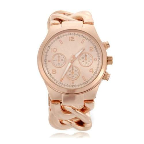 Damen Armbanduhr Armkette Armreifen Uhr Quarzuhr Rosegold Damenuhr Edel