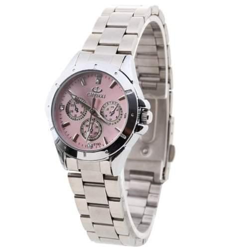 Damen Uhr Damenuhr Armbanduhr Quarzwerk Quarzuhr Stahl mit Strass Langlebig NEW