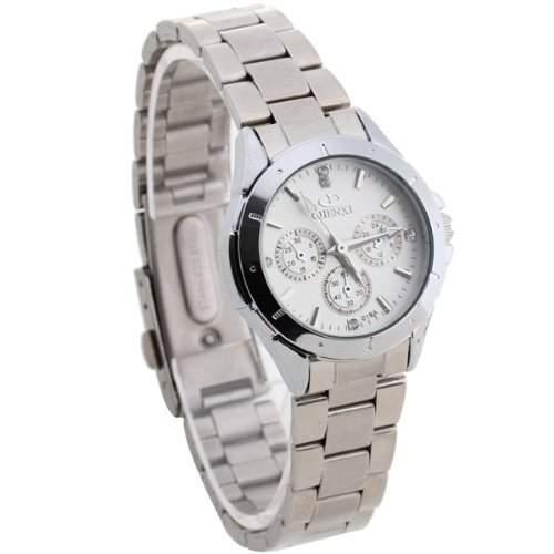 Damen Uhr Damenuhr Armbanduhr Quarzwerk Quarzuhr Stahl mit Strass Neuartig NEW