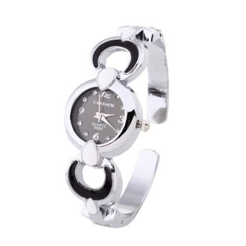 Damen Armbanduhren Quarzuhren Uhren Watch Armkette mit Strass Lochmuster Modern