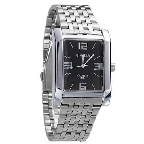 Armbanduhr Herrenuhr Quarzuhr Edelstahl Kommerz Arabisch Zahlen Silberfarbe