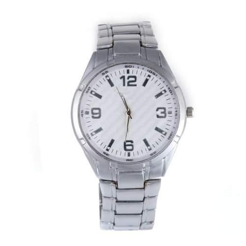 Herrenuhr Herren Uhr Quarzuhr Armbanduhr Herrenarmbanduhr Silberfarbe Legierung