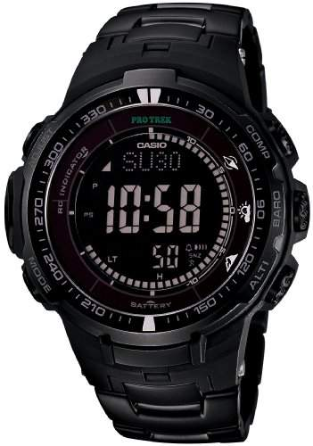 Casio PROTREK Black Titan Limited Series - Triple Sensor Ver3 - Tough Solar - Multiband 6 Mens Watch PRW-3000YT-1JF Japan Import