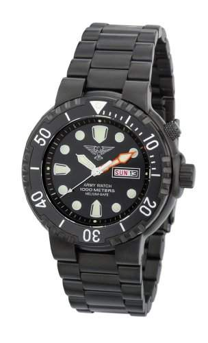 Army Watch Taucheruhr EP844 - Herrenarmbanduhr IP Black