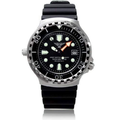 Army Watch - Taucheruhr mit Helium Ventil - 1000m - Ref EP895