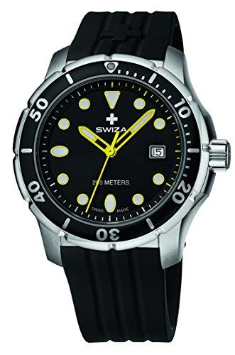 SWIZA Silikon Armband Uhr Tetis Gent Schwarz One Size