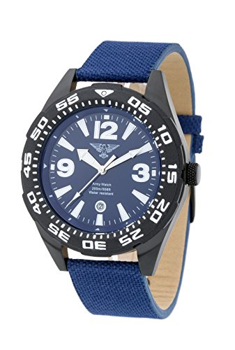 ARMY WATCH Sport by Eichmueller Taucheruhr 20 ATM 200m Wasserdicht M182
