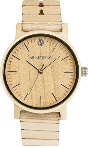 AB AETERNO Wave Ahorn Holz Swiss Quarz Hypoallergen Herren Uhren