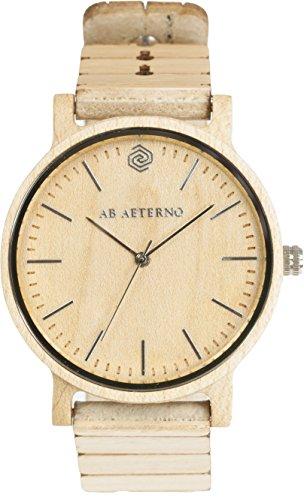 AB AETERNO Wave Frau Ahorn Holz Swiss Quarz Hypoallergen Uhren