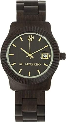 Ab Aeterno Storm Unisexuhr Sandelholz schwarz ABSM004