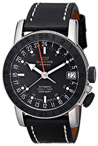 Glycine Uhr Airman 17 Sphair GMT Schweizer Automatik 46mm 3917191-LB9B