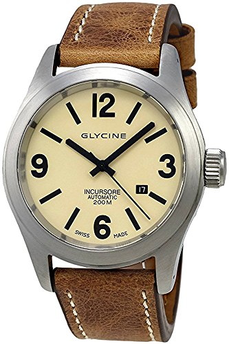 Glycine Incursore Automatic Stainless Steel Mens Strap Swiss Watch Calendar 3874 15 LB7BH