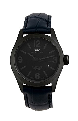 Glycine Incursore Automatic PVD Coated Steel Mens Watch Black Dial Calendar 3874 999 LBK9
