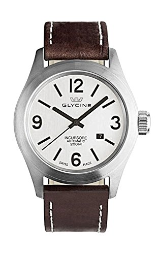 Glycine Incursore Automatic Stainless Steel Mens Strap Watch Silver Dial Calendar 3874 11 LB7BF