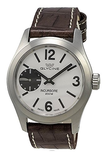 Glycine Incursore Manual Wind Stainless Steel Mens Strap Swiss Watch 3873 11 LBN7