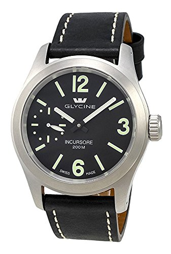 Glycine Incursore Manual Wind Stainless Steel Mens Strap Swiss Watch 3873 19 LB9B