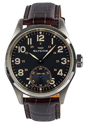 Glycine KMU 48 Kriegs Marine Uhren Manual Wind Stainless Steel 3906 19AT LB33