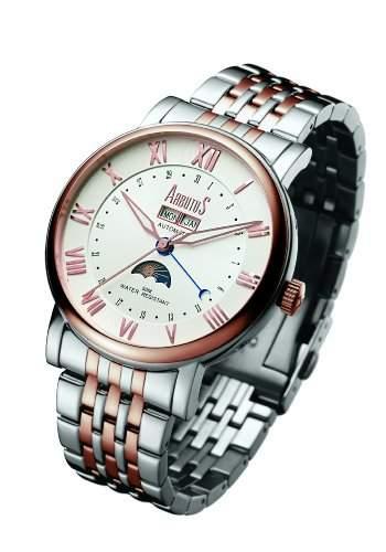 Arbutus Herren-Armbanduhr Analog Automatik edelstahl Silber AR502TRWS