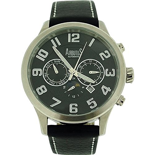 Erdbeerbaeume AR505SBB Armbanduhr Herren Lederband schwarz
