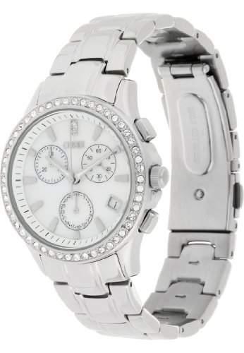 CHRIST times Damen-Armbanduhr Trend Analog Quarz One Size, perlmutt, silber