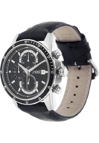 CHRIST times Herren-Armbanduhr Sport Analog Quarz One Size, schwarz, schwarz