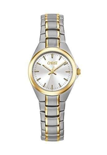 CHRIST times Damen-Armbanduhr Analog Quarz One Size, silber, bicolorsilber