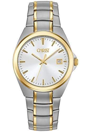 CHRIST times Herren-Armbanduhr Analog Quarz One Size, silber, bicolorsilber
