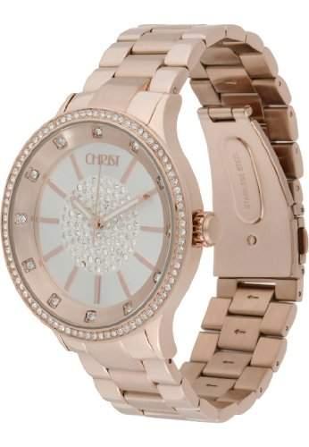 CHRIST times Damen-Armbanduhr Analog Quarz One Size, silber, rosé