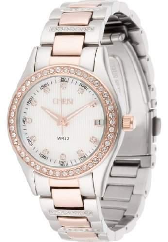 CHRIST times Damen-Armbanduhr Analog Quarz One Size, perlmutt, silber rosé