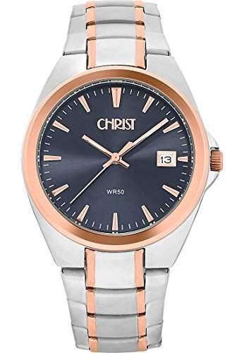 CHRIST times Herren-Armbanduhr Analog Quarz One Size, schwarz, bicolorschwarz