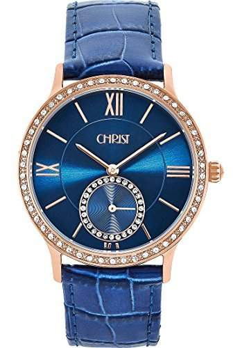 CHRIST times Damen-Armbanduhr Analog Quarz One Size, blau, blau